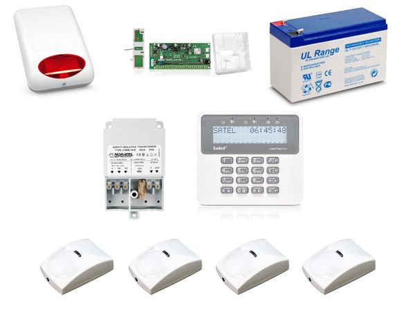System alarm Satel PERFECTA 4 czujniki ruchu LCD GSM AP11