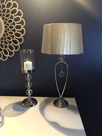 Lampa stołowa wys 60cm lampion wys 42cm zestaw