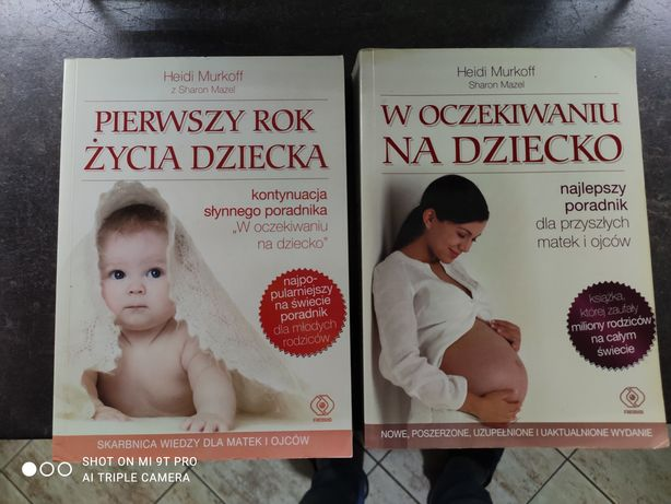 Książki W oczekiwaniu na dziecko i Pierwszy rok życia dziecka