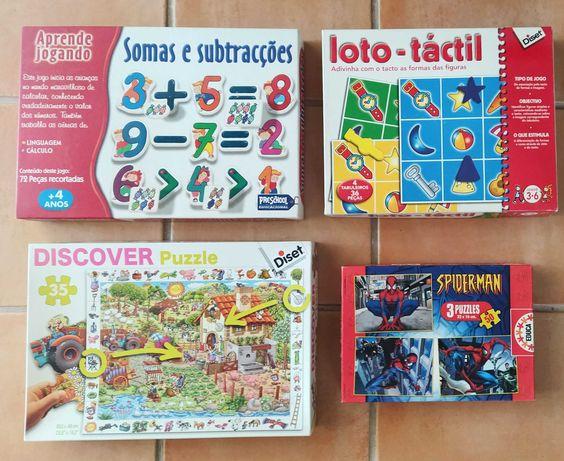 18 Puzzles e jogos de tabuleiro infantis