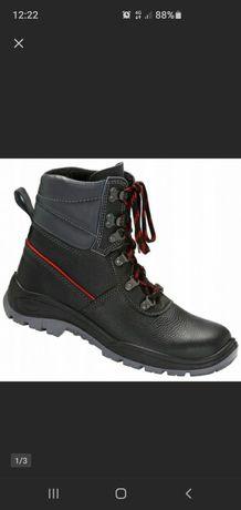 Buty robocze r. 45 PPO 0151 czarne, ocieplane, bezpieczne NOWE!