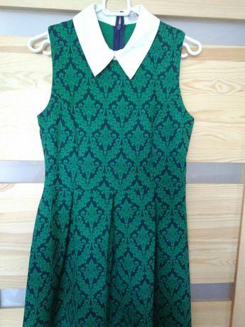 Sukienka pensjonarka zielona S