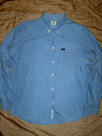 Брендовая джинсовая рубашка Lee размер L