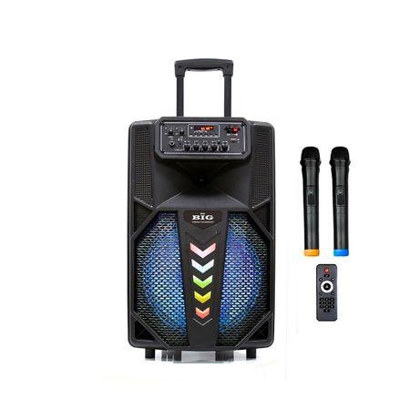 Автономная караоке портативная колонка с двумя радио микрофонами