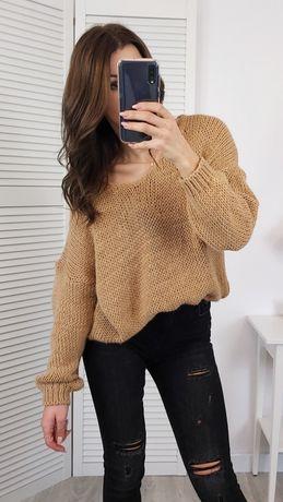 Sweterek sweter karmelowy oversize nowy