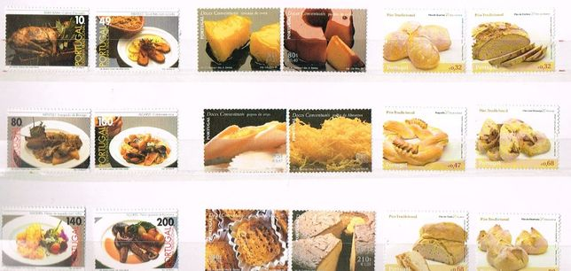 Filatelia-PORTUGAL - A nossa Gastronomia emissões e blocos