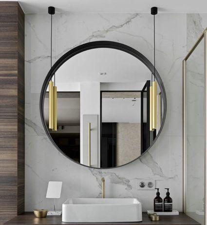 Круглое зеркало в металлической раме. Настенное ЛОФТ