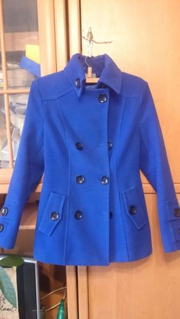 Продам синє жіноче пальто з поясом