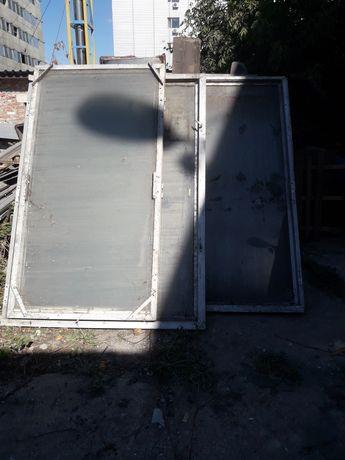 Продам алюминиевые окна, со стеклом