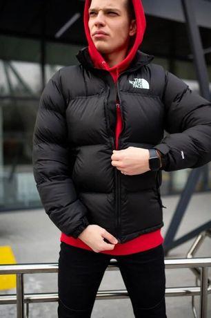 Пуховик мужской черный The North Face | зимняя мужская куртка на пуху