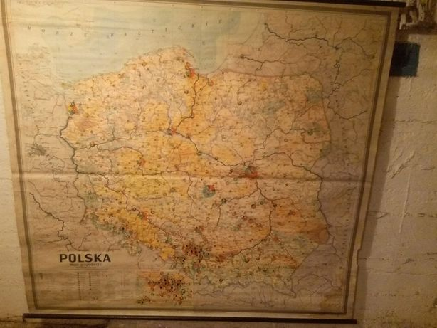 Mapa szkolna PRL