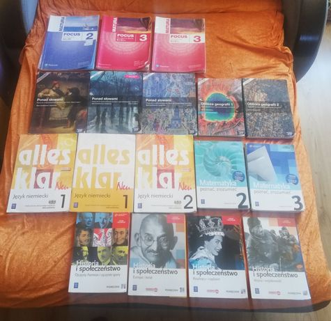 Książki technikum liceum alles klar, oblicza geografii, ponad słowami