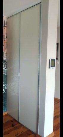Drzwi składane do szafy lakobela i aluminium
