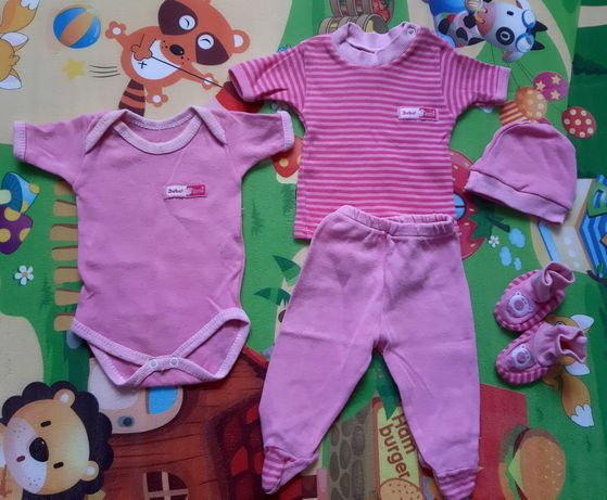 PAKA ubrań dla dziewczynki 50-56, ponad 50 sztuk