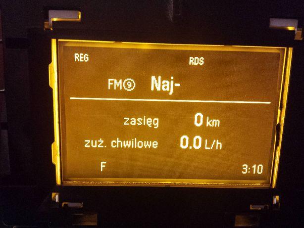 Opel Wyświetlacz do opla Astra H, Zafira B GID Wylogowany