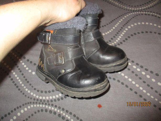 Ботинки, сапожки зима 25 кожанные по стельке 15,5