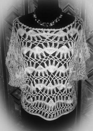 Ажурна туника, блузка, кардиган, накидка в стиле бохо
