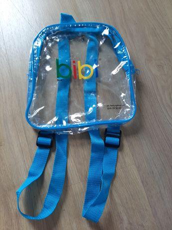 Przeźroczysty plecaczek bibi nowy