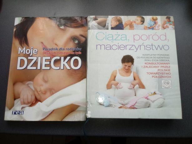 2 Ksiazki poradniki ciąża, poród, macierzyństwo