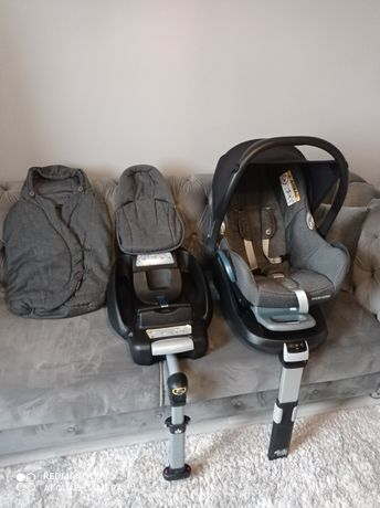 Fotelik Maxi Cosi CabrioFix 2 bazy śpiwór wkładka dla niemowlaka