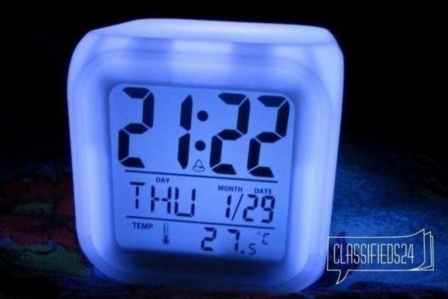ночная лампа Часы будильник Светящийся время/дата