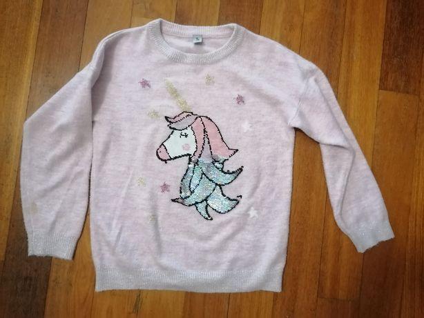 Sweter Tu jednorożec cekiny 10 lat 140