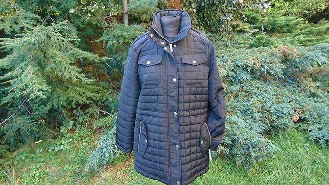 Michael Kors czarna kurtka pikowana płaszczyk płaszcz,wiosenna