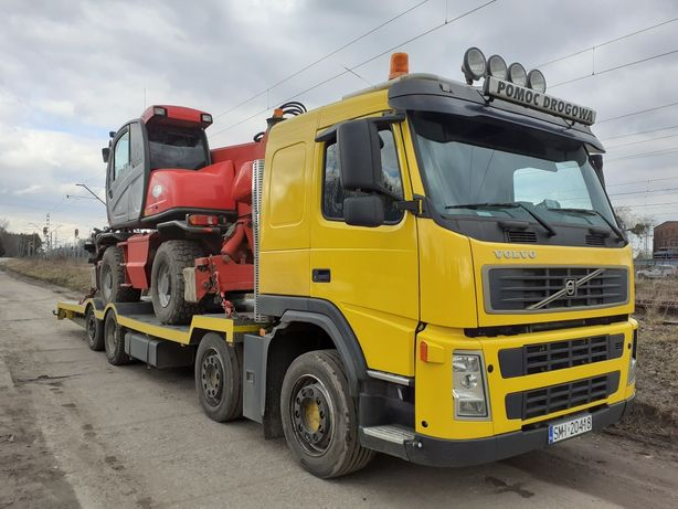 Transport koparek ladowarek pomoc drogowa do 20ton