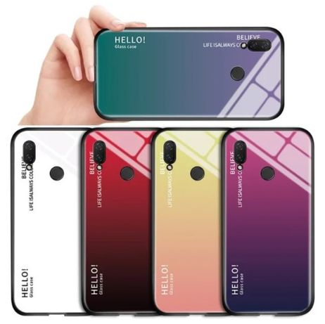 Чехол градиент на для Huawei P Smart Plus Z P20 Lite Y7 2019 Honor 8X