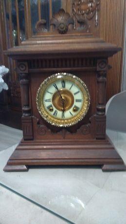 Unikat SHARON zegar kominkowy z 1878 r medalowy certyfikat , brąz zło