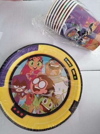 Pratos e copos Teen Titans - a estrear