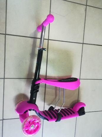 Самокат-беговел,светящиеся колеса,двойная подножка выдерживает 80 кг