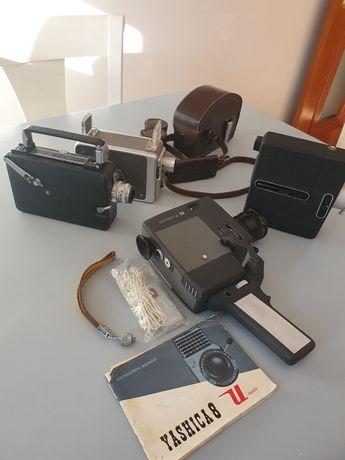 Máquina de filmar x5 lote máquinas antigas década 50/60 Japão e EUA