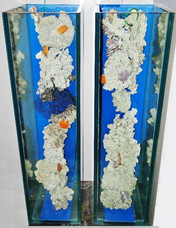 Akwarium z oryginalnymi koralowcami W stylu morskim Nowe