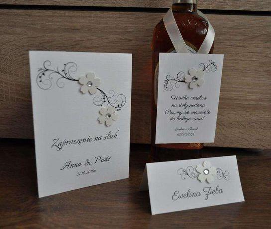 Zaproszenia ślubne, zaproszenia na ślub kwiatuszek
