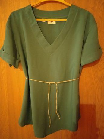 Bluzka zielona z krótkim rękawem