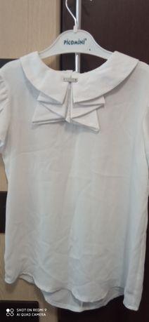 Школьная шолковая блузка