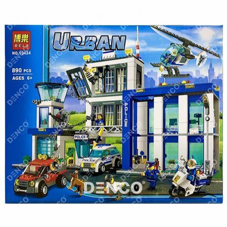 Конструктор BELA 10424 Полицейский участок LEGO City 60047 890 дет