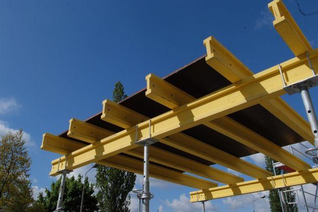 Szalunki stropowe zestaw 80m2 dźwigary podpory głowice sklejki