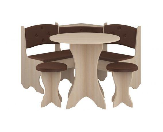 Н0ВЫЙ! Кухонный уголок с круглым обеденным столом. В наличии. Доставка