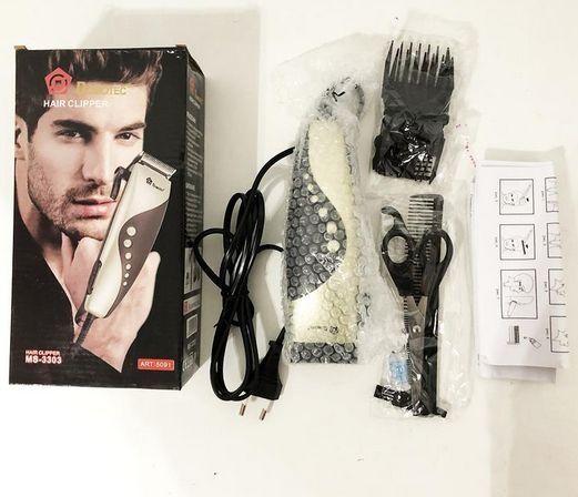 Проводная машинка для стрижки волос с насадками,ножницами, Domotec3303