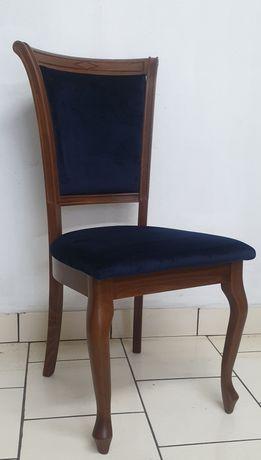 Nowe krzesła 10 sztuk Ludwik Reno granatowe