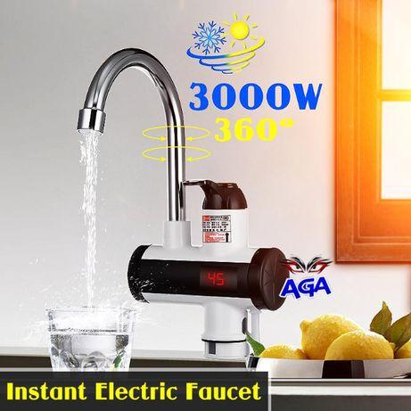 Przepływowy Podgrzewacz Wody LCD Elektryczny 3000W Zlewowy