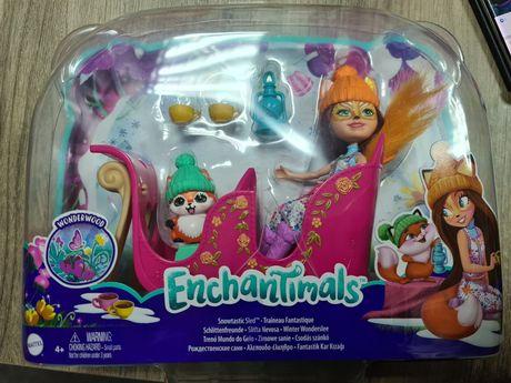 Nowy zestaw Enchantimals Zimowe sanie. Ekspresowa wysyłka
