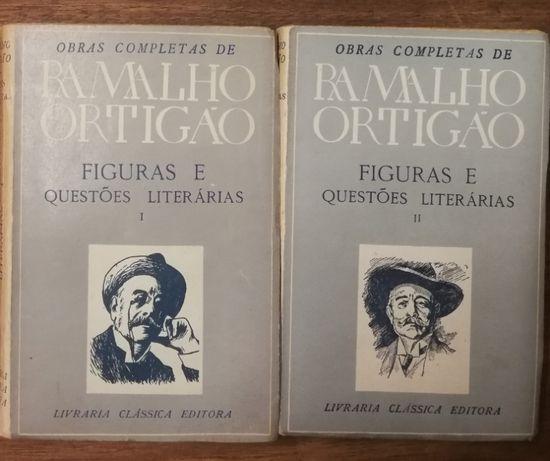 figuras e questões literárias, ramalho ortigão, 2 volumes
