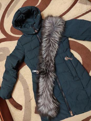 Зимняя куртка пуховик плащ S