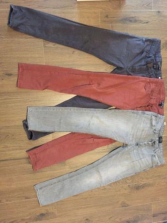 Spodnie, zestaw trzech spodni roz. 40,42 Bershka