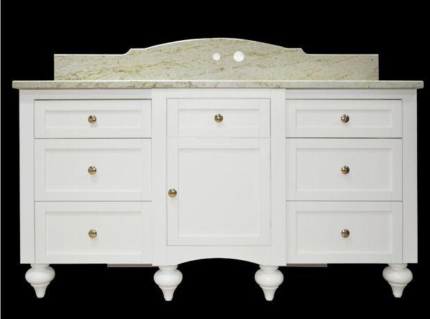 Stylowa szafka łazienkowa z blatem kamiennym