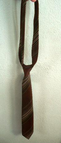 krawat lata 50-te PRL brązowy