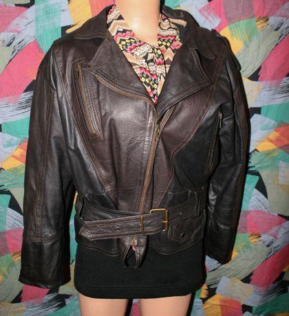 Кожаная мотокосуха,женская косуха,куртка,кожа,Natyral Wear,M р,Italy